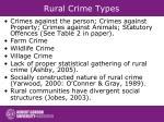 rural crime types