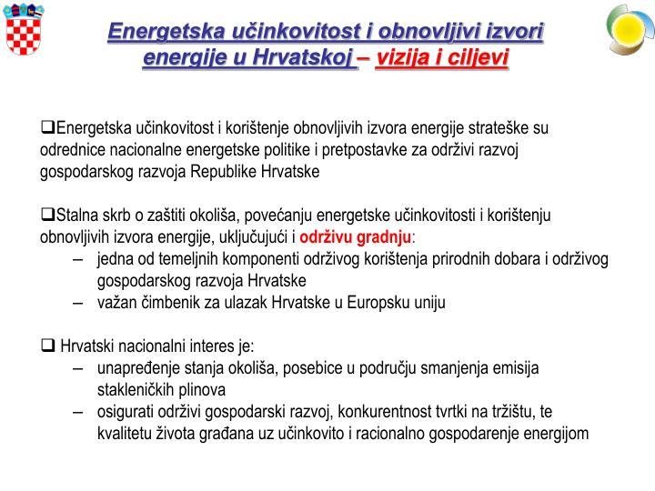 Energetska učinkovitost i obnovljivi izvori energije u Hrvatskoj