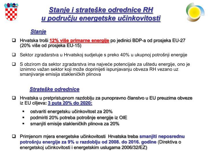 Stanje i strateške odrednice RH