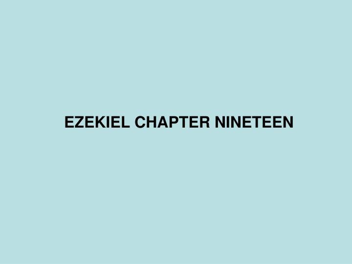 ezekiel chapter nineteen n.