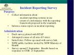 incident reporting survey