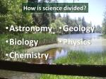how is science divided
