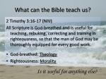 what can the bible teach us