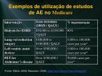 exemplos de utiliza o de estudos de ae no medicare1