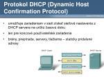 protokol dhcp dynamic host confirmation protocol