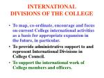 international divisions of the college4