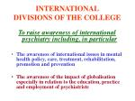 international divisions of the college5