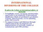 international divisions of the college6