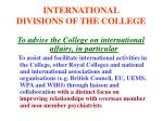 international divisions of the college8
