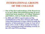 international groups of the college
