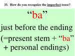 33 how do you recognize the imperfect tense