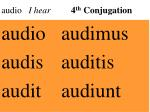 audio i hear 4 th conjugation