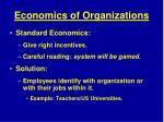 economics of organizations