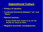 oppositional culture
