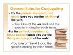 general rules for conjugating