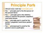 principle parts