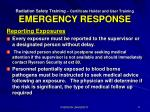 radiation safety training certificate holder and user training emergency response3