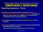 radiation safety training certificate holder and user training emergency response4
