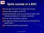 spills outside of a bsc