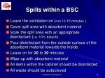 spills within a bsc