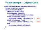 visitor example original code