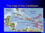 the map of the caribbean