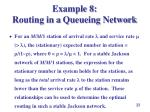 example 8 routing in a queueing network