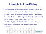 example 9 line fitting