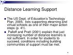 distance learning support