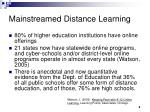 mainstreamed distance learning