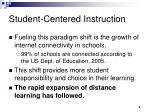student centered instruction