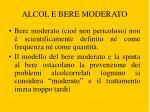 alcol e bere moderato