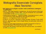 bibliografia essenziale consigliata basi teoriche