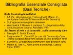 bibliografia essenziale consigliata basi teoriche1