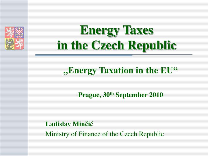 energy taxes in the czech republic n.