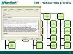 itim framework itil procesov