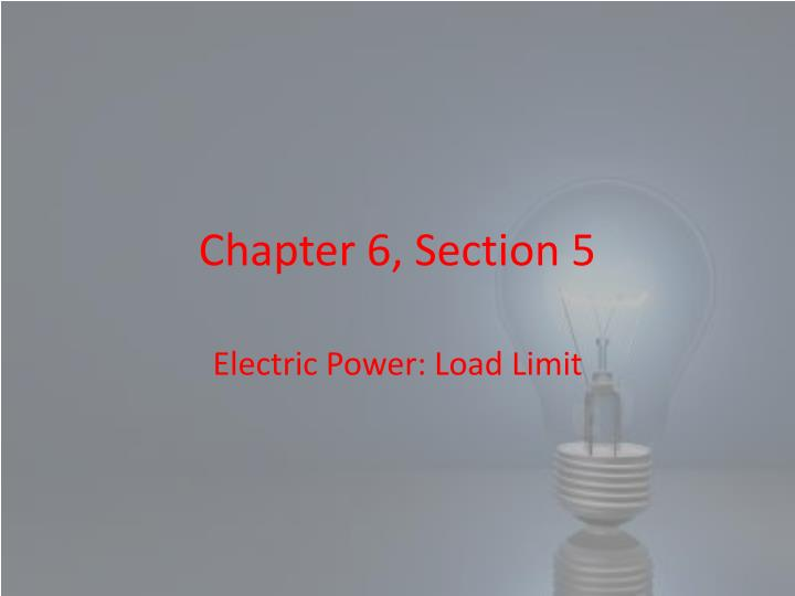 chapter 6 section 5 n.
