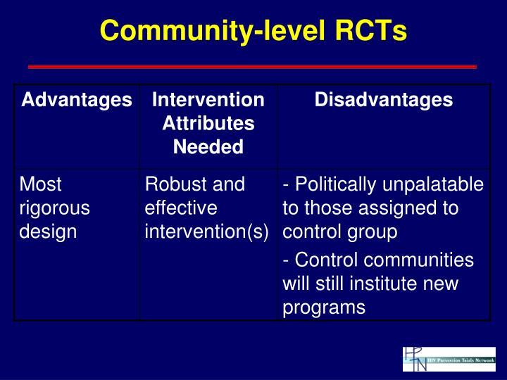 Community-level RCTs