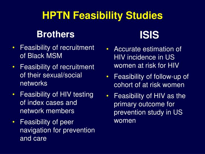 HPTN Feasibility Studies