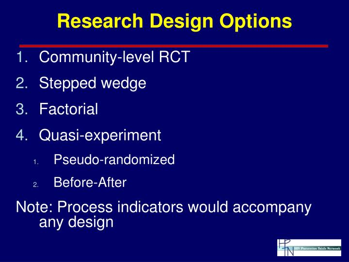 Research Design Options