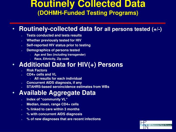 Routinely Collected Data