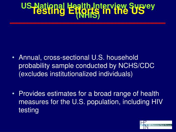 US National Health Interview Survey (NHIS)