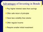 advantages of investing in bonds
