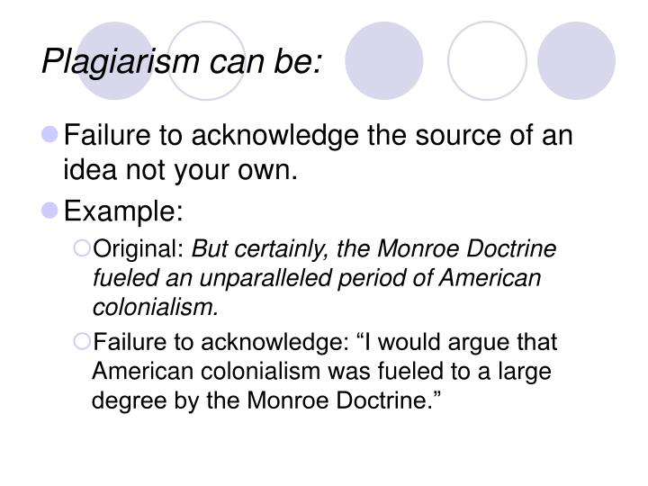Plagiarism can be:
