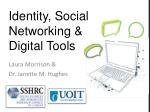 identity social networking digital tools