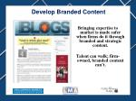 develop branded content