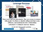 leverage success