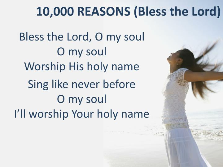 10 000 reasons bless the lord n.