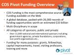 cos pivot funding overview