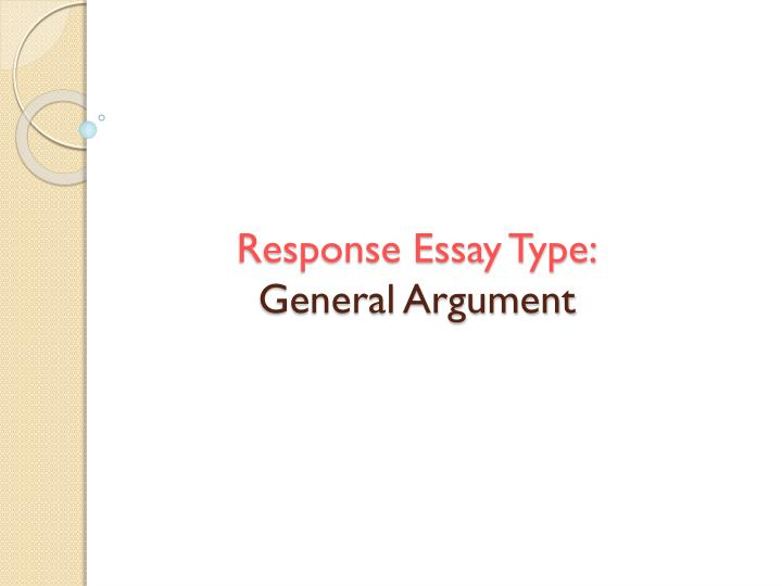 response essay type general argument n.